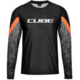 Cube Edge Rundhalstrikot Langarm Herren schwarz